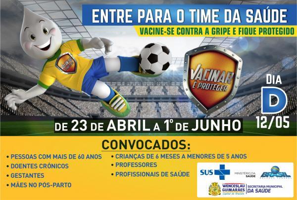 Campanha de vacinação em Wenceslau Guimarães, fique atento.