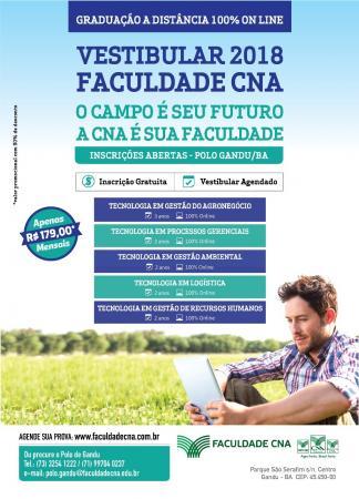 Faculdade CNA em Gandu; Graduação a distância 100% On line