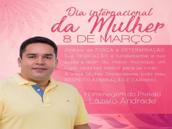 Homenagem do Prefeito Lázaro Andrade.