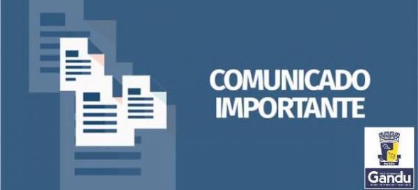 Comunicado da Secretaria de Saúde de Gandu