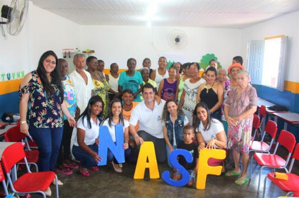 """NASF Gandu inicia o projeto """"Grupo Mais Saúde""""e  realiza atendimentos a pacientes hipertensos, diabéticos e obesos."""
