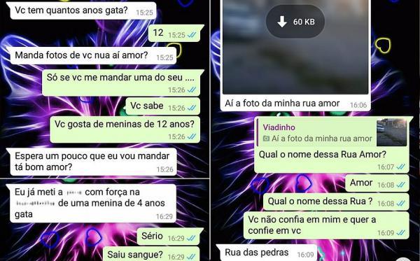 Usando WhatsApp da filha, mãe ajuda a prender suspeito de pedofilia.