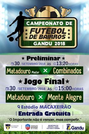 Final do Campeonato de Bairros de Gandu acontece neste domingo.