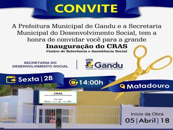 Inauguração da Nova Sede do CRAS – Centro de Referência deAssistência Socia