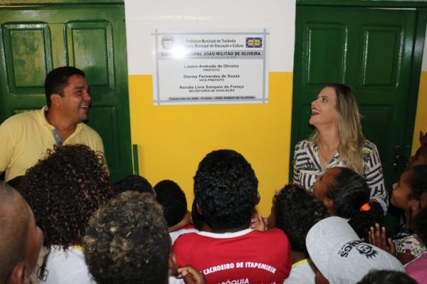 TEOLÂNDIA: Com Apresentações e Homenagens a Prefeitura reinaugura a Escola João Militão de Oliveira