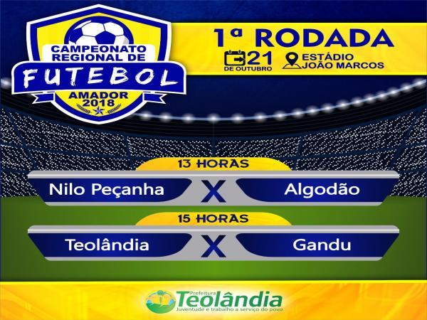 Seleção ganduense de futebol estreia neste domingo no Campeonato Regional de Teolândia.