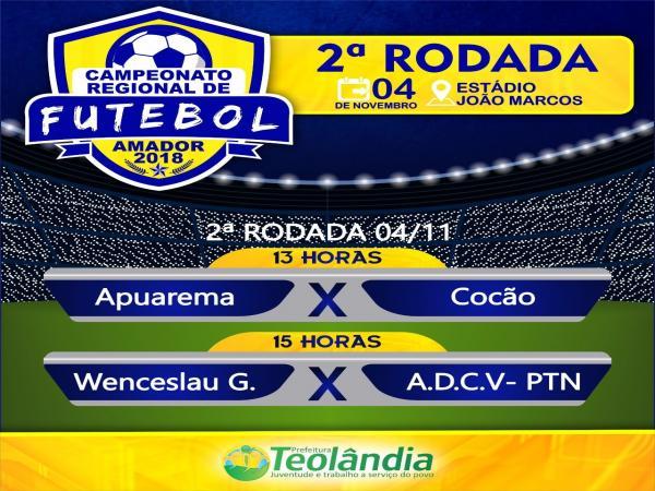 Teolândia: Neste domingo acontece a 2ª rodada do Campeonato Regional de Futebol Amador