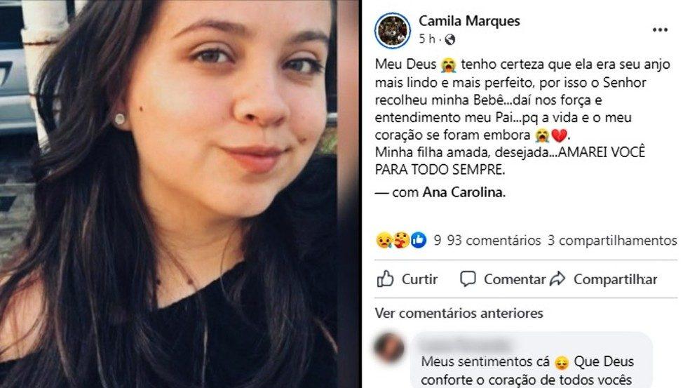 Jovem morreu após usar medicação para abortar aos 7 meses de gravidez em Votorantim; namorado foi preso — Foto: Reprodução/Facebook