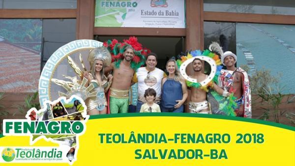 Teolândia: O município de Teolândia está fazendo história com a participação na FENAGRO 2018.