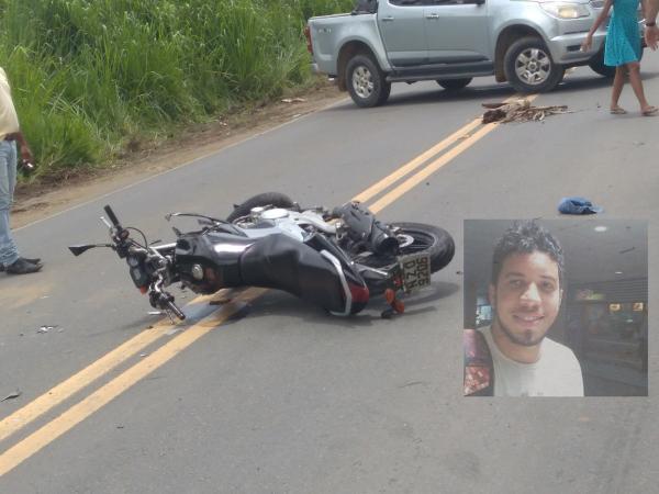 Jovem de 23 anos morre em acidente de moto na BR-101 em Gandu