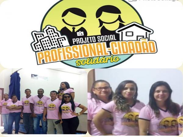 """Projeto social """"Profissional e Cidadão Solidário"""