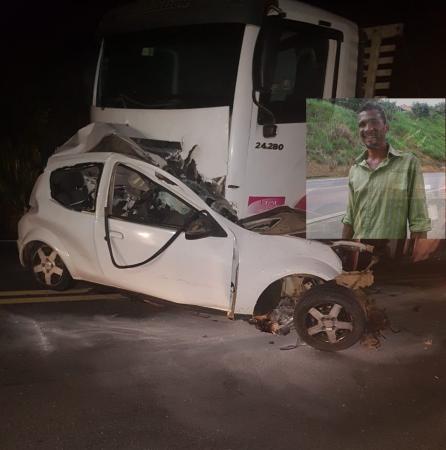 Motor de carro é arrancado após acidente que deixou uma pessoa morto em Gandu