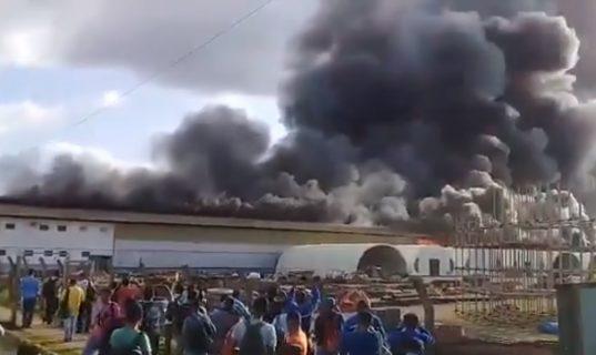 Incêndio atinge galpão da Usina de Belo Monte, no Pará; Veja o vídeo