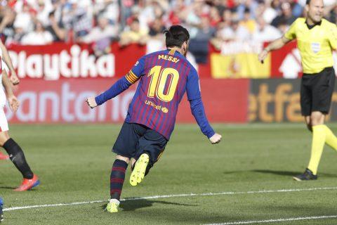Messi faz três e Barcelona vira sobre o Sevilla no Campeonato Espanhol