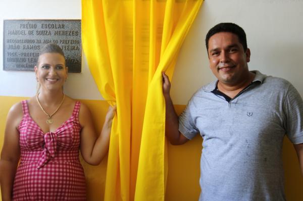 Teolândia: Inauguração da reforma e ampliação da Escola Municipal Manoel de Souza Menezes.