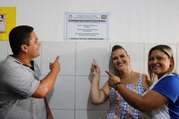 Teolândia: Reinaugurada mais uma Unidade Escolar com obras de reforma e ampliação na Comunidade de Novolândia