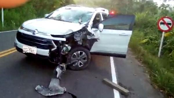 Motociclista morre após colisão entre carro e moto na BA-120, entre Gandu e Ibirataia