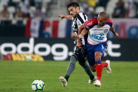 Bahia perde de virada do Botafogo