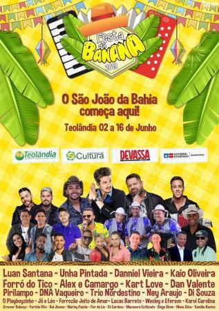 Festa da Banana 2019: Cartaz Oficial