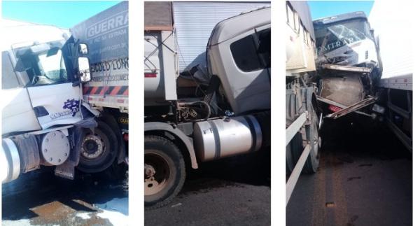 Grave acidente com duas carretas e uma viatura da PRF deixa mortos e feridos em rodovia na Bahia