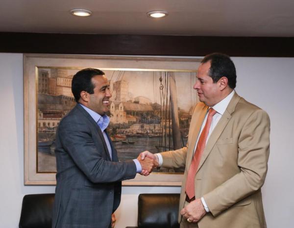 Governador em exercício, Nelson Leal recebeu em  audiência prefeito interino de Salvador, Bruno Reis.