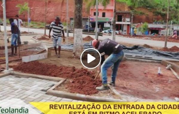 Vídeo: Teolândia realiza obras de revitalização