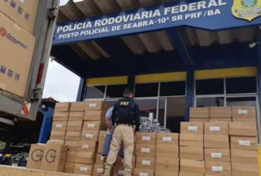 Carga com cigarros contrabandeados é apreendida em Seabra