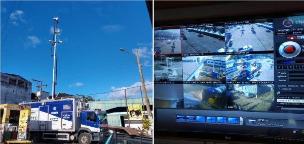Unidade de videomonitoramento reforçam segurança da Festa da Banana em Teolândia