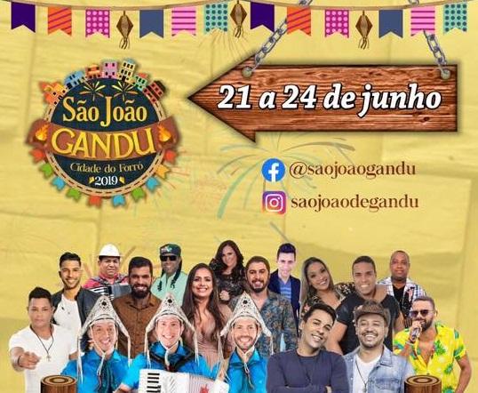 Abertura do São João em Gandu  acontece hoje (21); confira a programação.