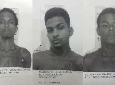 Três jovens fugiram do presídio em Ilhéus