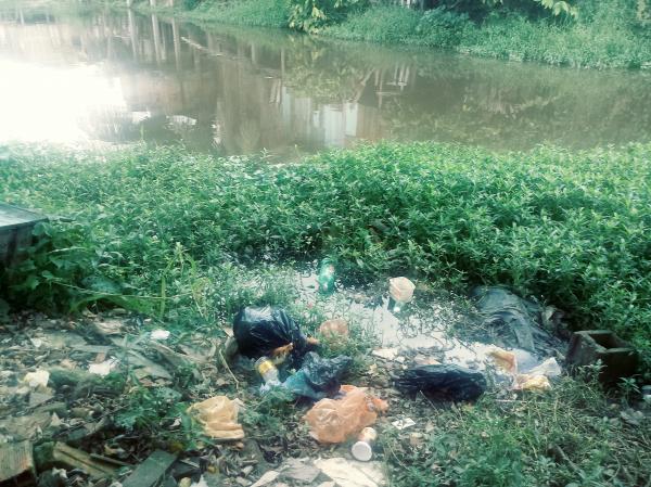 Falta de consciência: moradores contribuem para a poluição do Rio Gandu
