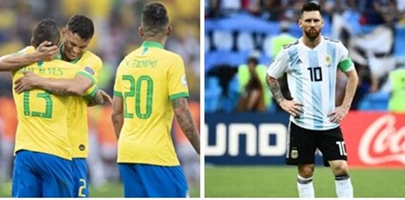 Brasil x Argentina decidem nesta terça vaga na final