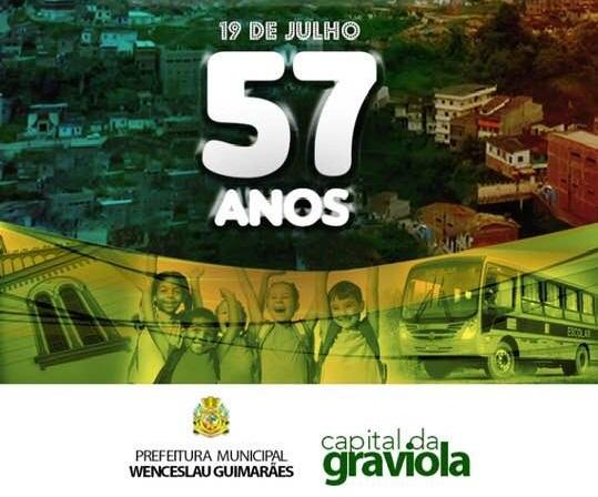 Wenceslau Guimarães comemora 57 anos de emancipação política