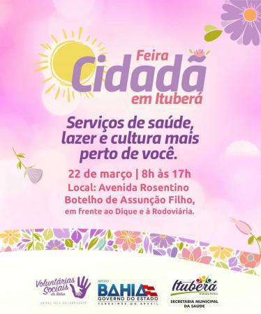 Ituberá recebe feira de saúde e cidadania promovida pelas Voluntárias da Bahia