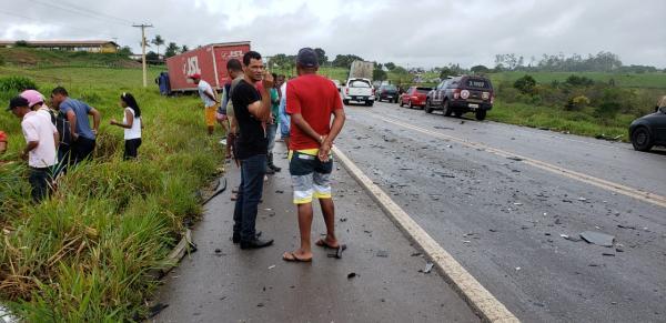 Acidente deixa vítima fatal na BR-101, em Laje.