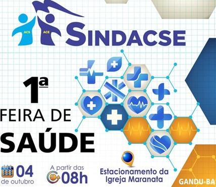 SINDACSE vai promover I Feira de Saúde em Gandu