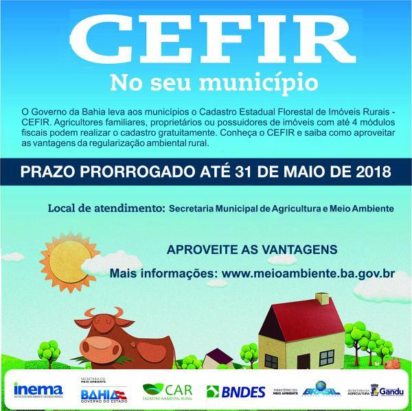 Agricultores ganduenses têm até 31 de maio para o cadastramento no CEFIR.