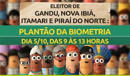 Biometria: Justiça Eleitoral realiza mutirão de atendimento neste sábado (5/10)