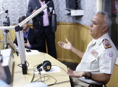 Comandante da PM-BA, Brandão diz que tropas estão trabalhando normalmente