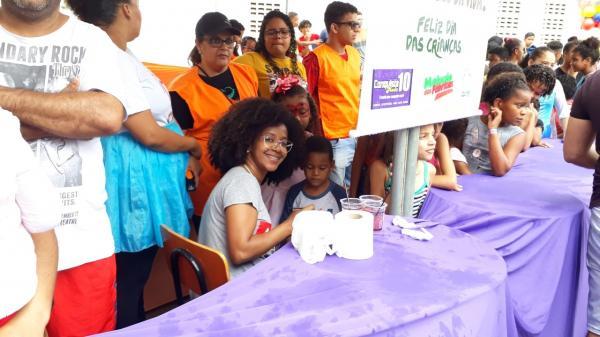 Gandu – Lojas Conquista 10 e CECOB realizaram uma grande festa para as crianças