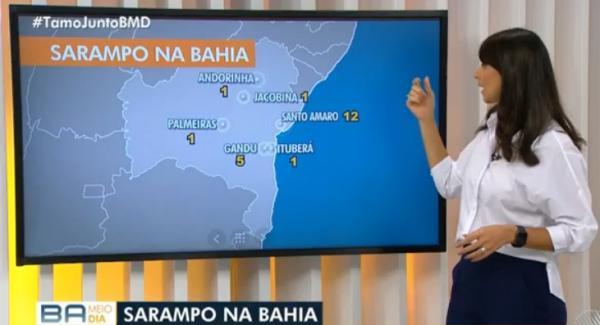 Com 5 casos de sarampo registrado, Gandu é destaque no BA Meio Dia com Jessica Senra