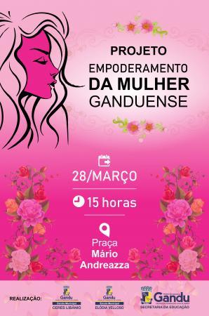 Escolas municipais de Gandu promovem desfile em homenagem ao dia Internacional da Mulher.
