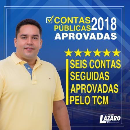 Teolândia: Pela 6ª vez consecutiva, prefeito Lázaro tem contas aprovadas