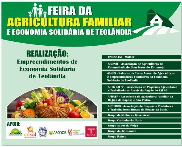 Feira da Agricultura Familiar e Economia Solidária de Teolândia
