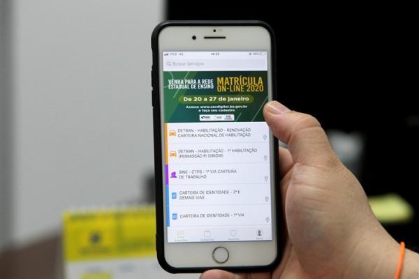 Matrícula na rede estadual pode ser feita 100% online em 2020