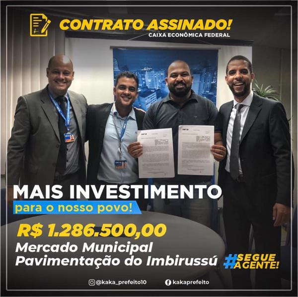 Prefeito assina contrato para execução das obras de pavimentação em Wenceslau Guimarães.