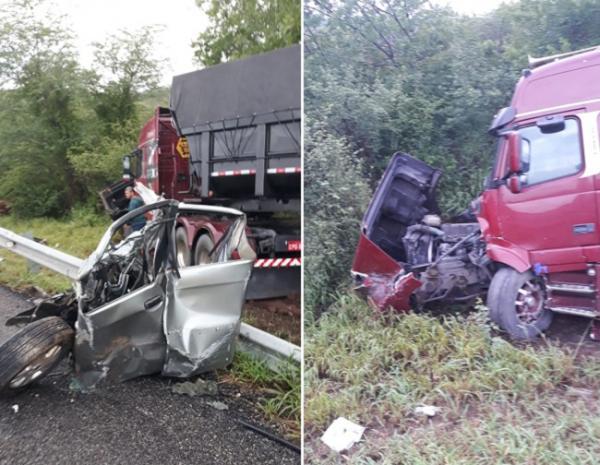 Grave acidente deixa três mortos na BR-116; vítimas visitavam parentes em Gandu.