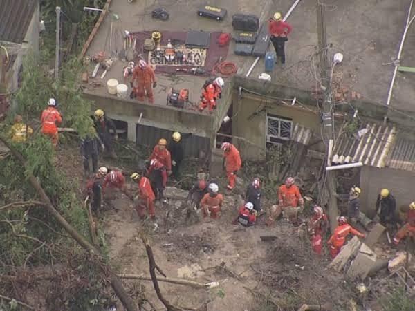 Chuva deixa mortos e quase 2000 desabrigados em MG.