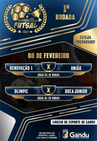 Ganduzão de Futsal 2020 começa dia 8 de março.