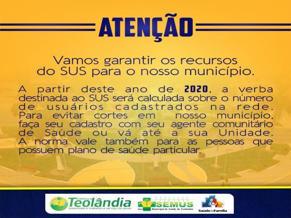 Prefeitura de Teolândia informa